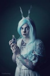 Designs by Hysteria Machine will feature. Image: Photography: Vonsterling Model: Nienke vd Griendt/ Dingelientje MUA: Joyce Ppakman/ Candy Make Up Antlers: Hysteria Machine
