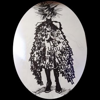 Sketch by Nikki Shaill of 'Punk: From Chaos to Couture'
