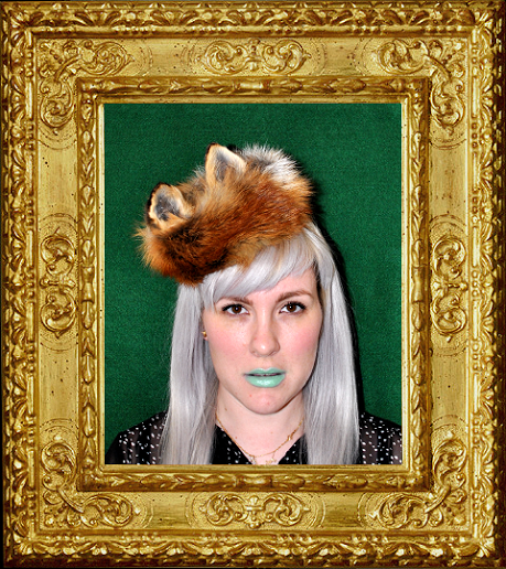 Joanna Shears wearing one of her Death + Glory fox ear creations (c)