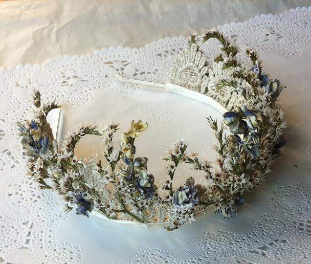 Sea lavender floral crown, Immortal Florals (c)