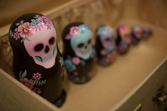 Matroyshka skull dolls by Karina Yazylyan